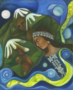 Mapuche Machi female Shaman Healer- Mother Earth Art Print Reproduction on Canvas - Native American Art - Inspirational Spiritual gift by OlivosARTstudio on Etsy South America Map, America Memes, Pagan Art, Native American Indians, In This World, Nativity, Traveling By Yourself, Canvas Art, Spirituality