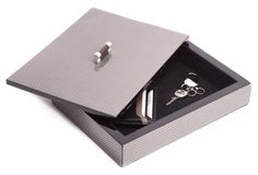Lacquer Valet Box, Gray
