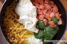 One-pot pasta cu somon și spanac Smoked Salmon Pasta, One Pot Pasta, My Recipes, Creme, Spinach, Smoking, Recipes, Salmon