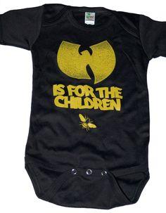 wu tang clan t-shirt BLACK wu tang mod:Yellow shirt kid toddler T shirt children