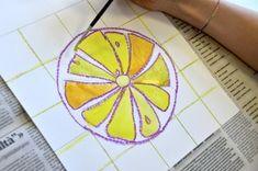 Citrus fruits in complementary colors Color Activities, Preschool Activities, Fruit Art Kids, Art Lessons, Art For Kids, Colours, Creative, Citrus Fruits, Inspiration