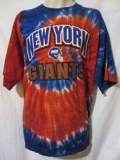 ... Mens XL New York NY Giants Tie Dye T-Shirt NFL Extra Large  NewYorkGiants ... c9c3eef5d50