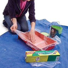Paint Tray Liner - 11 Tips for Faster, Neater Painting: http://www.familyhandyman.com/painting/tips-for-faster-neater-painting