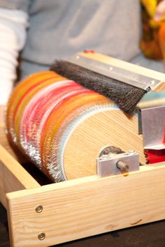 """drum carder - learn how to use this in the """"rolags to riches"""" workshop"""