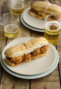 Meatball sandwiches.  Because this is one of Thomas's favorites.