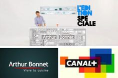 [ 90 ans de création française ] En 2011, le cuisiniste Arthur Bonnet sponsorise L'Edition Spéciale sur Canal +, la célèbre émission animée par Bruce Toussaint. Toussaint, France, Led, Design, Kitchen Modern, French