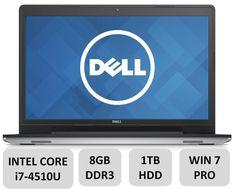 """Dell Inspiron 17.3"""" Laptop Computer - 17.3-inch LED Backlit Display, 4th Gen i7-4510U Processor, 8GB DDR3, 1TB HDD, DVDRW, Backlit Keyboard, Windows 7 Professional"""