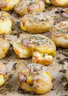 Rosemary-Garlic Smashed Potatoes