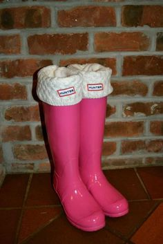 Cute, cozy rain boots. You buy the white socks separately, and can vary the colors, and take them out and wash them!