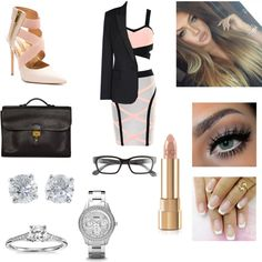 Business Lady by max16flawless on Polyvore featuring polyvore fashion style STELLA McCARTNEY Hermès Tiffany & Co. Blue Nile Corinne McCormack Dolce&Gabbana