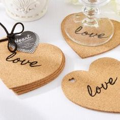Heart Shaped Wedding Favors and Love Themed Decorations