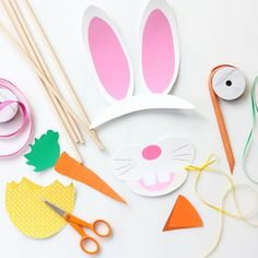 Easter Photo Booth Props, Easter Photo Printables