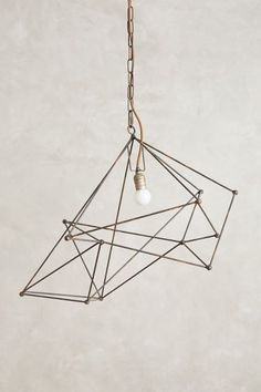 Small Iron Web Pendant Lamp - anthropologie.com