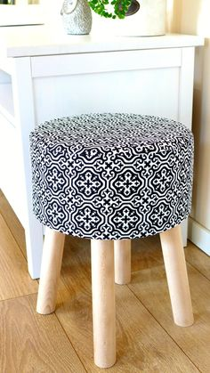 Items similar to Stool Fjerne M black maroco on Etsy Tire Furniture, My Coffee Shop, Ottoman Stool, Retro Design, Foot Rest, Home Furnishings, Family Room, Upholstery, Room Decor