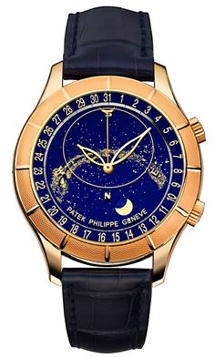 Unique Heavenly Patek Philippe Celestial Rose Gold with Date Reference 5106 Kamille is a reader of Jake's Patek Philippe W. Fine Watches, Cool Watches, Men's Watches, Audemars Piguet, Astronomical Watch, Patek Philippe Rose Gold, Rolex, Patek Philippe Aquanaut, Swiss Army Watches