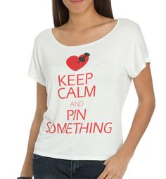 Keep Calm and Pin Something $4.32 after coupon code