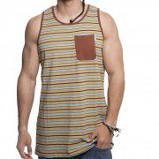 Camiseta sin mangas Santa Cruz: Vest Oceanside Caramel Stripe BR
