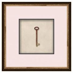"""***TO MAKE WITH A COPY OF OUR FIRST HOUSE KEY*** Framed giclee print with an antique key motif.   Product: Frame giclee printConstruction Material: Paper, glass, and polystyreneColor: Brown frameFeatures: Ready to hang Dimensions: 20.5"""" H x 20.5"""" W x 20.5"""" DCleaning and Care: Wipe with a dry cloth"""
