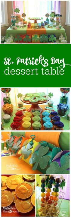 Pot of gold at the end of rainbow St. Patrick's Day Party by Michelle's Party Plan-It featured on The Party Teacher | http://thepartyteacher.com/2014/02/27/guest-party-st-patricks-day-rainbow-dessert-table/