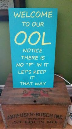"Welcome to our ""ool""  hand painted wood sign by SignsandDesignsbyAMA on Etsy"