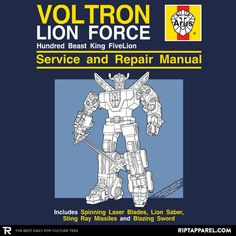 Voltron Graphic T-Shirt, good today only! for $11 and Up. Perfect for the Voltron Fan
