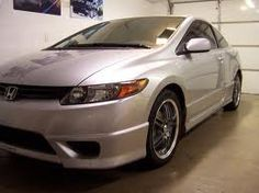 2006 silver honda civic coupe ex with body kit - Google Search