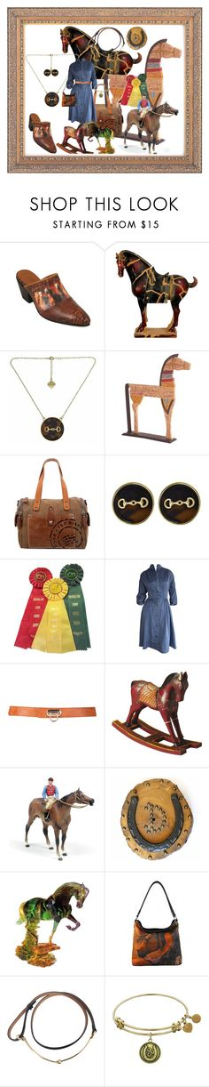 """Horse Lover"" by bren-johnson ❤ liked on Polyvore featuring Fornash, TSD, Dot & Bo, Fitz and Floyd, Montana West and Gucci"