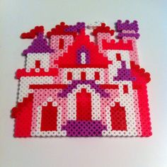 Fairy castle perler beadso by 13tiedye_perlerbeads