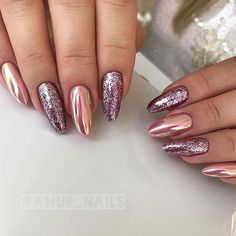 18 Cute Nail Designs that You Will Like for Sure ★ Bright Cute Nail Designs with Glitter Picture 2 ★ See more: http://glaminati.com/cute-nail-designs/ #cutenails #cutenailsdesigns