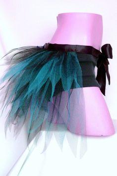 Adult , Black , Fluorescent , Neon , Turquoise , Blue , Half Tutu , Tutu Bustle , Tutu Bustle , Net , Tutu Skirt , Hen , Bachelorette ,  UK