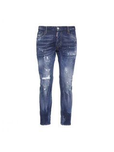 DSQUARED2 Dsquared2 Tidy Biker Bleached Knee Jeans. #dsquared2 #cloth #https: