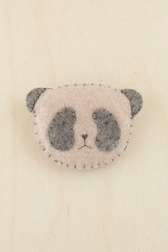 HUG ATTACK  felt panda brooch  by olivonoli on Etsy, $11.00