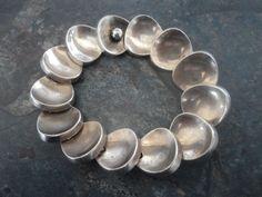 SUPER Danish HEAVY Sterling Silver Modernist Bracelet - Bent Knudsen of Denmark  #Modernist #BentKnudsen