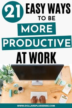 Do you ever finish your day feeling like you weren't able to accomplish everything on your To-Do List? I understand, being productive and managing your time can be very difficult.   In order to get more done without burning out, you need to work smarter -not harder. You need to structure your time more effectively and make a daily plan.  Not every day will be a perfect day. But if you follow some of the tips in this article, you will find yourself being more productive at work without burnout. Retirement Advice, Saving For Retirement, Early Retirement, Earn Money From Home, How To Make Money, Best Online Jobs, Financial Organization, Multiple Streams Of Income, Extra Money