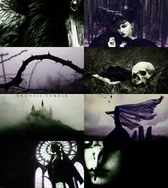 """Twentieth in a series of photo collages inspired by Disney girls: Maleficent from """"Sleeping Beauty"""". Maleficent was my favourite Disney villain when I was a kid - if I could have a favourite, that is."""