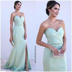 Evening Dresses, Prom Dresses, Formal Dresses, Strapless Dress Formal, Ideias Fashion, Party, How To Wear, Wedding, Color