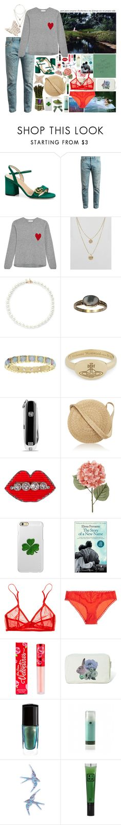 """I got lost in the aisles because I couldn't find these words"" by delfin-marijuanero ❤ liked on Polyvore featuring Gucci, Chinti and Parker, Pieces, Kenneth Jay Lane, Mia Sarine, Vivienne Westwood, David Yurman, Samuji, Shourouk and Incipio"