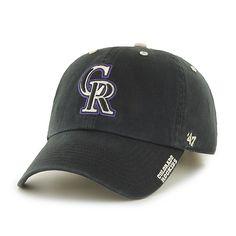 f22d5cef3fe Colorado Rockies Ice Black 47 Brand Adjustable Hat