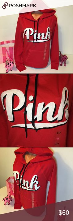 NEW PINK VS SWEATSHIRT HOODED EMBROIDERED LOGO PINK VICTORIA'S SECRET HOODIE   HOODED SWEATSHIRT WITH DRAWSTRINGS, BIG EMBROIDERED LOGO IN THE FRONT AND KANGAROO POCKET! GORGEOUS PIECE!!!    COLOR RED  SIZE S (true to size)  FAST SHIPPING!!!    Check out my other items! I am sure you will find something that you will love it! Thank you for watch!!!!!   Be sure to add me to your favorites list! I PINK Victoria's Secret Tops Sweatshirts & Hoodies