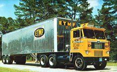Day cab cab over Heavy Duty Trucks, Big Rig Trucks, New Trucks, Cool Trucks, Antique Trucks, Vintage Trucks, Chevy Truck Models, Truck Transport, Freight Transport