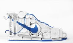 berlin based artist sarah illenberger recently created the sculpture above for nike's icons, 5 remixers' project. along with 5 other german-based Nike Design, 3d Design, Booth Design, Graphic Design, 3d Artwork, Creative Artwork, Land Art, Shoe Box Art, Sarah Illenberger