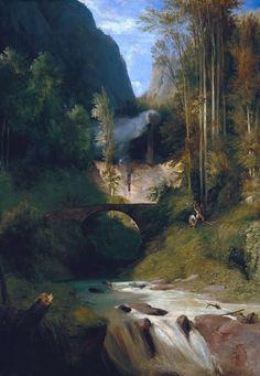 Carl Blechen Gorge near Amalfi, Alte Nationalgalerie, Berlin Claude Monet, Manet, Carl Blechen, Web Gallery Of Art, Google Art Project, Berlin, Forest Path, Museum, Romanesque