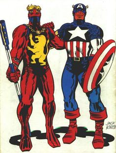 Captain Britan & Captain America, Jack Kirby
