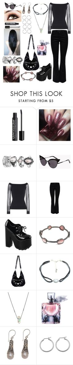 """""""Untitled #918"""" by banasheeanni ❤ liked on Polyvore featuring Dsquared2, Roland Mouret, Lipsy, Demonia, Stone & Honey, Lancôme and NOVICA"""