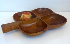 Vintage Monkeypod Monkey Pod Wood / Wooden / by FourthEstateSale, $22.00