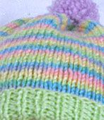 close-up of baby hat