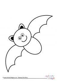 Image Result For Color Sheet Preschool Halloween 2 Bats Bat