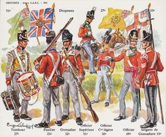 British line regiments during the Napoleonic war - Google Search