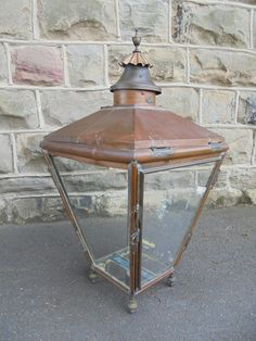Offered for sale is decorative antique copper glazed lantern Antique Lanterns, Copper Lantern, Art Deco Chandelier, Antique Lighting, Antique Copper, Drafting Desk, Lighting Ideas, Victorian, Antiques