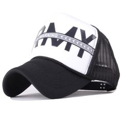0cc67d735f4 2017 Hip Hop Black White Letter Print Curved Baseball Caps Mesh Hats For  Women Men-in Baseball Caps from Men s Clothing   Accessories on  Aliexpress.com ...